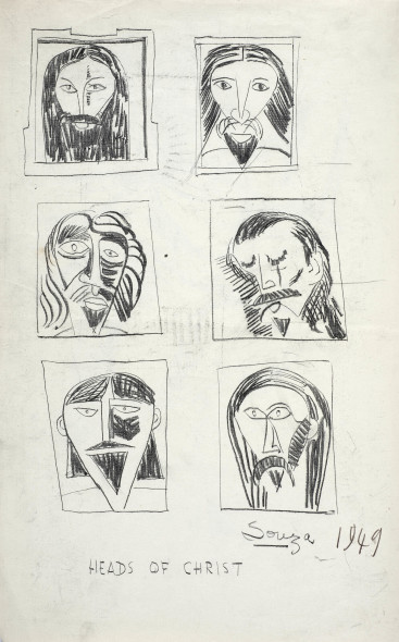 Francis Newton Souza, Heads of Christ , 1949