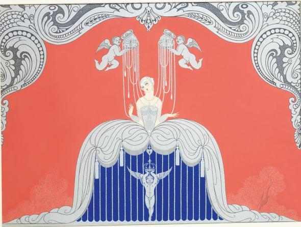 Romain de Tirtoff dit Erté, Costume design for Le Triomphe de la Femme,, 1926