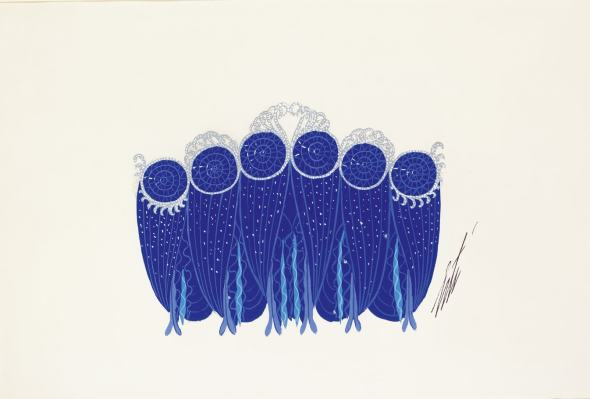 Romain de Tirtoff dit Erté, Les Sapphires, 1954