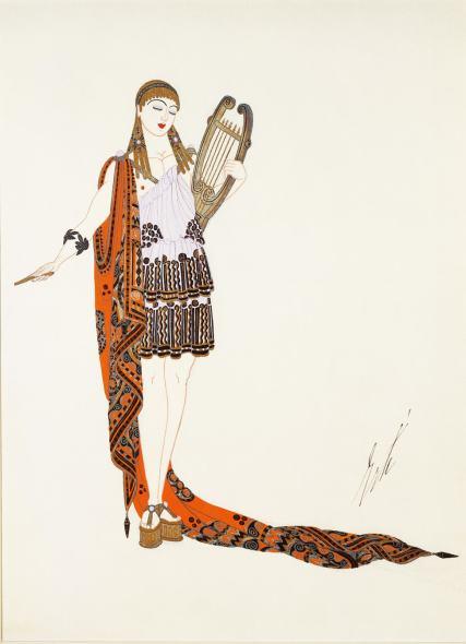 Romain de Tirtoff dit Erté, Apollo costume for the American film Restless Sex,, 1919