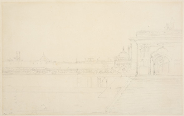 Thomas Daniell, R.A. (1749 – 1840) and William Daniell, R.A. (1769 – 1837) View of India, c.1790 Pencil on paper 28 x 44 cm 11 1/8 x 17 3/8 in