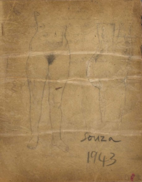 Francis Newton Souza, Untitled (Nude), 1943