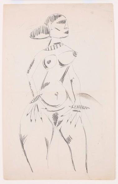 Francis Newton Souza, Untitled (Nude), 1948