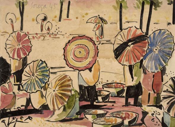 Francis Newton Souza, Untitled (Parasol), 1945