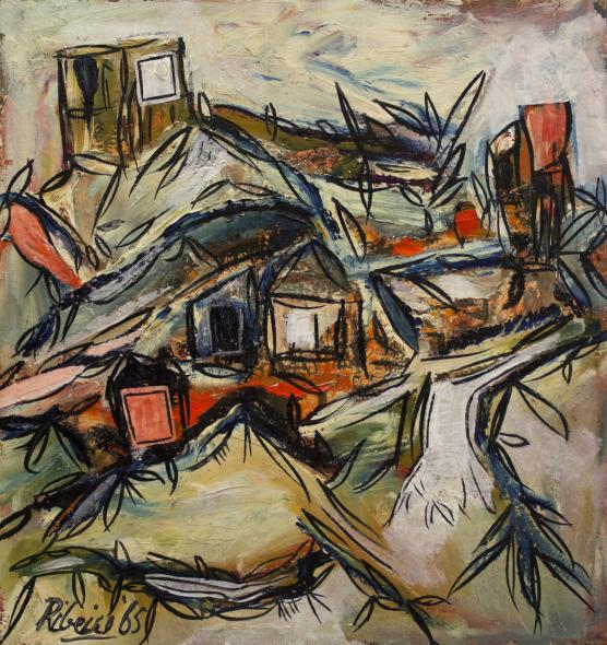 Lancelot Ribeiro, Untitled (Orange Road), 1965