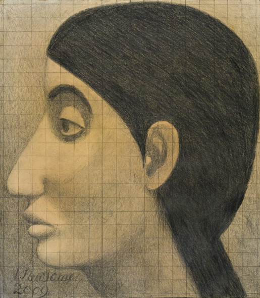 Victor Newsome, The Virgin Mary aged 12, left profile, 2009