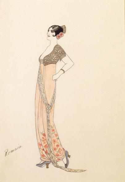 Romain de Tirtoff dit Erté, Evening dress, 1912