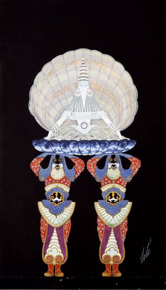 Romain de Tirtoff dit Erté, Costume design for the Mother of Pearl Ballet, 1922