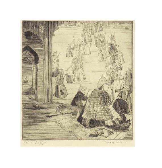 Abdur Rahman Chughtai, Sacred Stairs