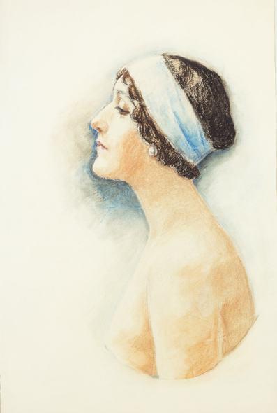 Romain de Tirtoff dit Erté, Portrait of Lina Cavalieri, , 19