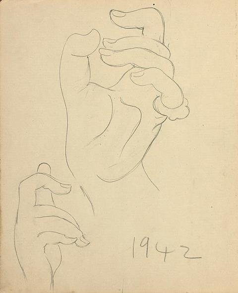 Francis Newton Souza, Untitled (Hands), 1942