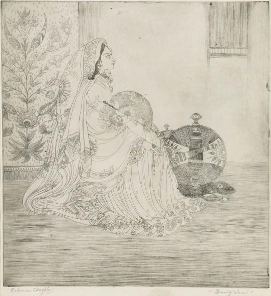 Abdur Rahman Chughtai, Spinning Wheel