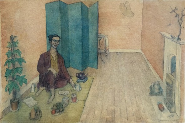 <span class=%22title%22>Student Life, The Artist-Orientalist Having Tea, Chelsea<span class=%22title_comma%22>, </span></span><span class=%22year%22>1941</span>