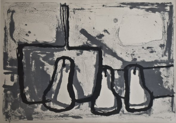 <span class=%22title%22>Still life, Three Pears and a Pan<span class=%22title_comma%22>, </span></span><span class=%22year%22>1955</span>
