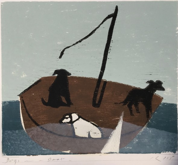 <span class=%22title%22>Dogs in a Boat (White Triangle)<span class=%22title_comma%22>, </span></span><span class=%22year%22>2015</span>
