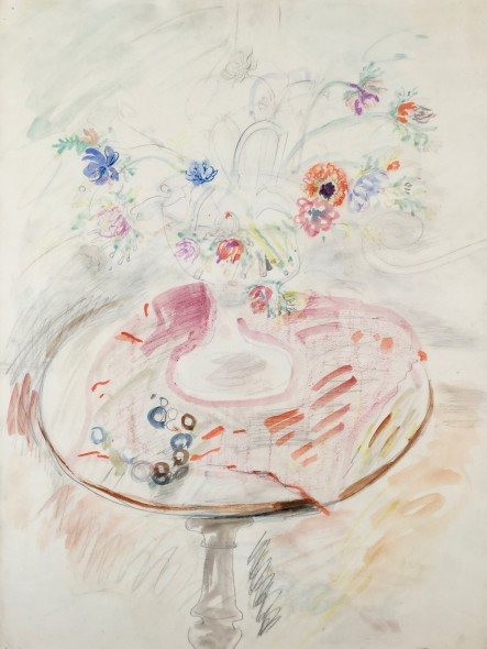 <span class=%22title%22>Chalice with Flowers on a Pedestal Table<span class=%22title_comma%22>, </span></span><span class=%22year%22>c 1950</span>