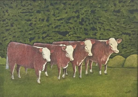 <span class=%22title%22>Four Cows in a Field<span class=%22title_comma%22>, </span></span><span class=%22year%22>c 1960s</span>