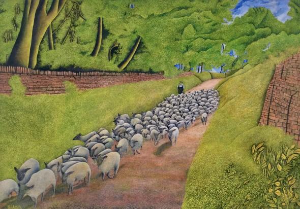 <span class=%22title%22>Herding Sheep<span class=%22title_comma%22>, </span></span><span class=%22year%22>c 1960s</span>
