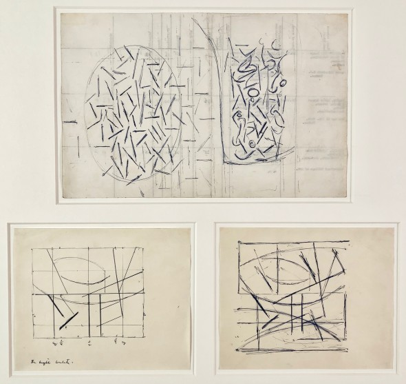 <span class=%22title%22>Three studies for paintings (Line and Space/Linear Compositions)<span class=%22title_comma%22>, </span></span><span class=%22year%22>c 1950</span>