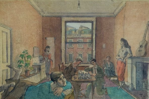 <span class=%22title%22>Students, Chess Players, Chelsea (Longridge Road)<span class=%22title_comma%22>, </span></span><span class=%22year%22>1941</span>