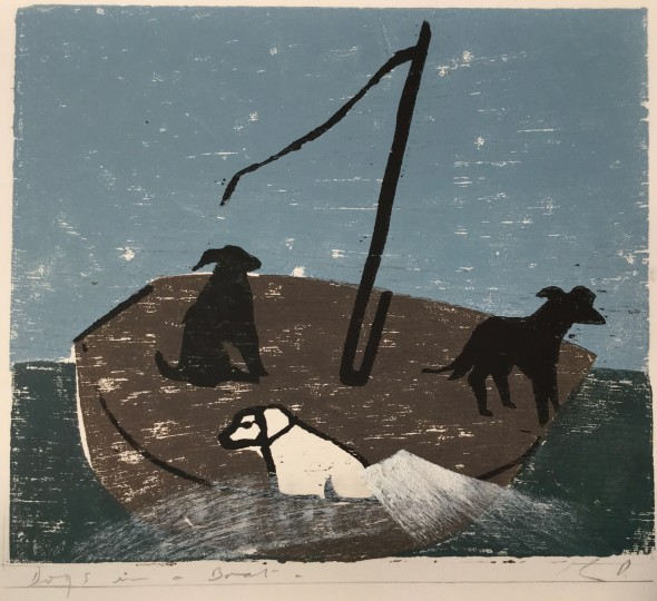 <span class=%22title%22>Dogs in a Boat (Green Sea)<span class=%22title_comma%22>, </span></span><span class=%22year%22>2019</span>