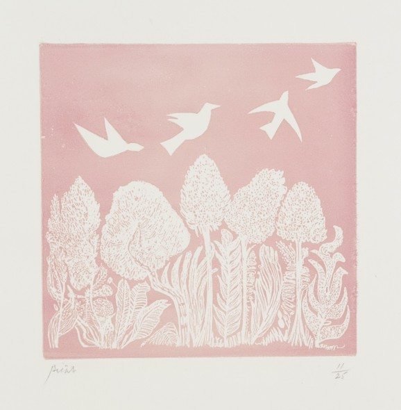 <span class=%22title%22>White Birds on Pink </span>
