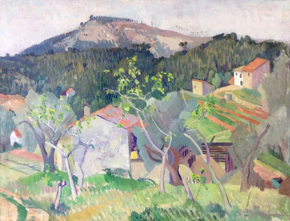 <span class=%22title%22>French Landscape with Hill<span class=%22title_comma%22>, </span></span><span class=%22year%22>c 1937</span>