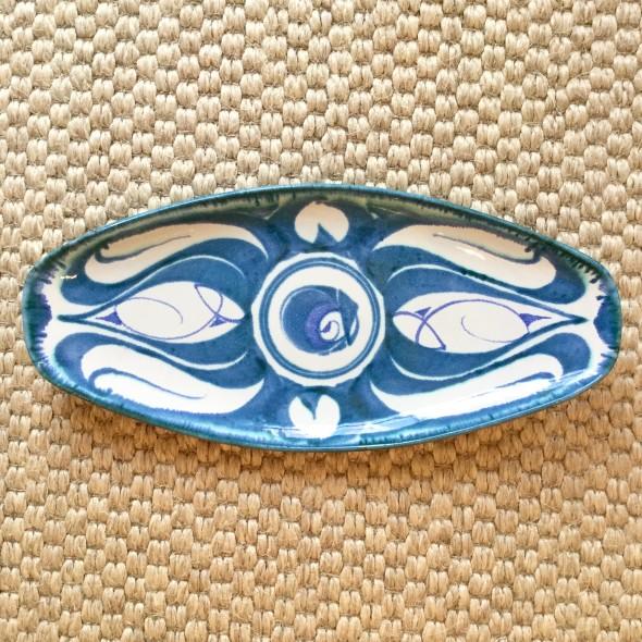 <span class=%22title%22>An Aldermaston Pottery oval platter<span class=%22title_comma%22>, </span></span><span class=%22year%22>c.1969/70</span>