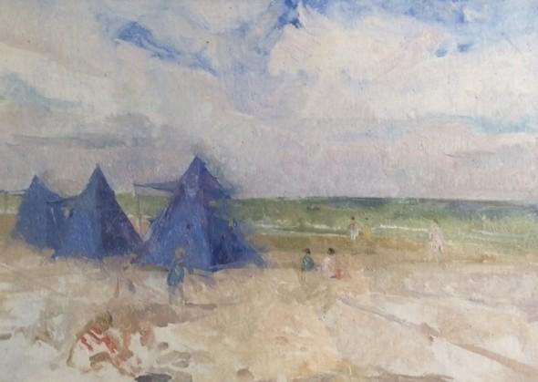 <span class=%22title%22>Beach Scene, Le Touquet<span class=%22title_comma%22>, </span></span><span class=%22year%22>c 1950s</span>