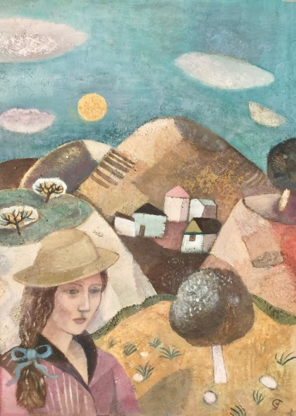 <span class=%22title%22>Girl in a Straw Hat<span class=%22title_comma%22>, </span></span><span class=%22year%22>c 1980s</span>