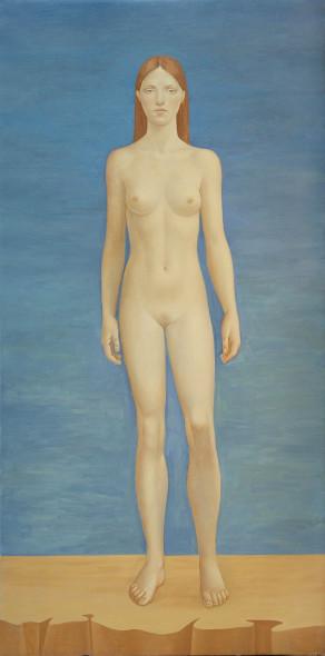 Alberto Galvez, desnudo azul-giotto