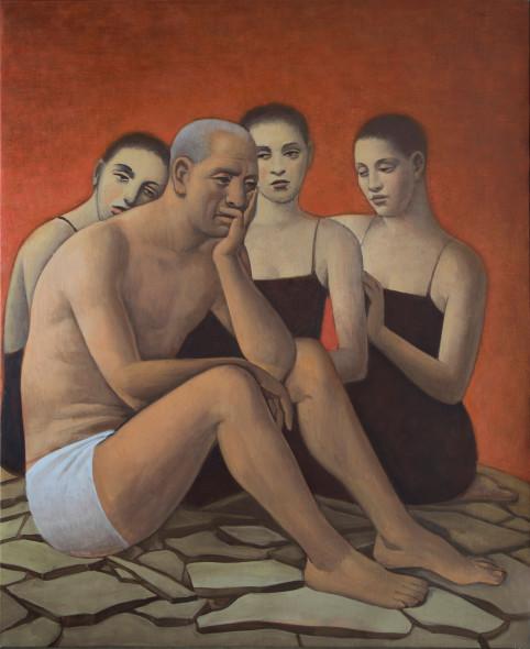 Alberto Galvez, Giobe y sus tre hijas