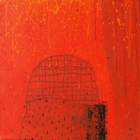 Kevin Tolman, Behind a Curtain (Red Object)