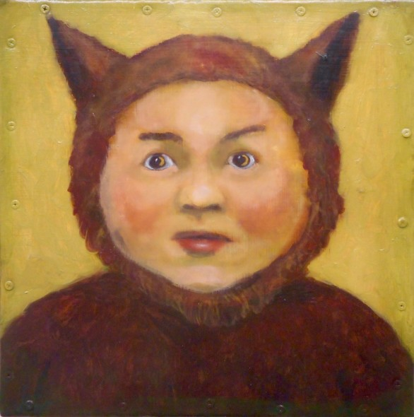 Santiago Perez, Portrait of the Little Clown Who Was Raised by Wolves