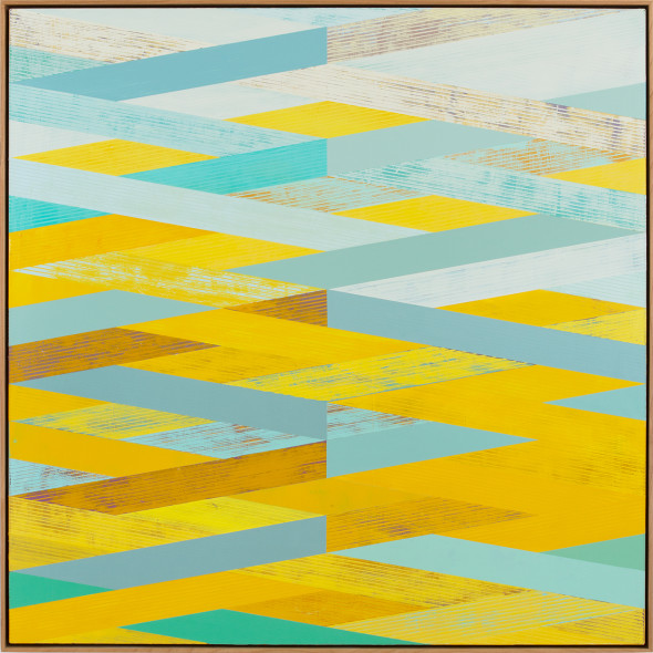 Sunny Taylor, Weave with Yellow and Aqua