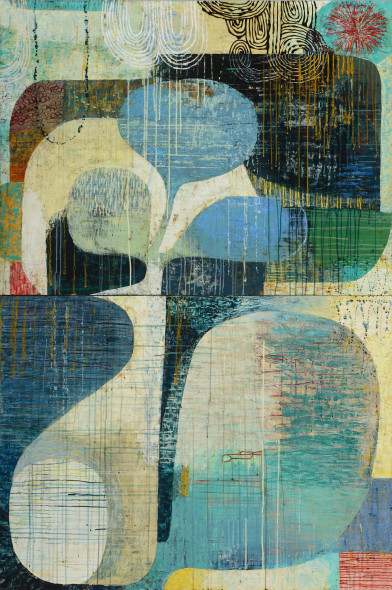 Claire B Cotts, The World, From Above & Below (Diptych)