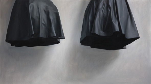 Ruozhe Xue, Hovering Form of Two Pieces of Leather, 2019