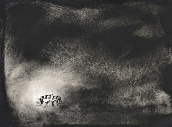 Lu Chao, Black silence, 2017