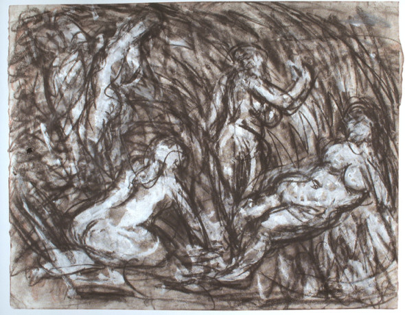 Leon Kossoff, From Cezanne: The Temptation of St Anthony, 1980's