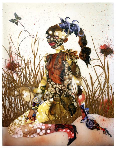 Wangechi Mutu, In Killing Fields Sweet Butterfly Ascend, 2003
