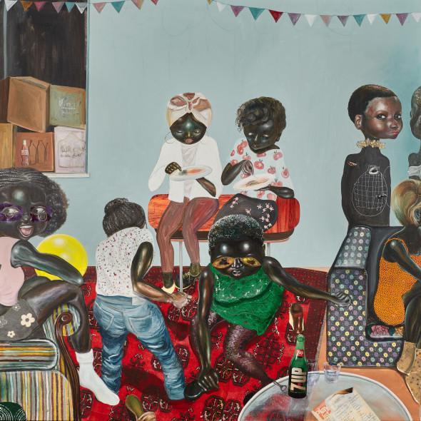 Ndidi Emefiele, Untitled (dancing to wo!!), 2017-18