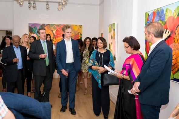 Hon. High comissioner of Sri Lanka Ms. Amari Wijewardene's adress inaugurates the show