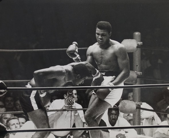 Low Blow' Las Vegas, World Title Fight, Floyd Patterson v Mohammed Ali, United States, 1965
