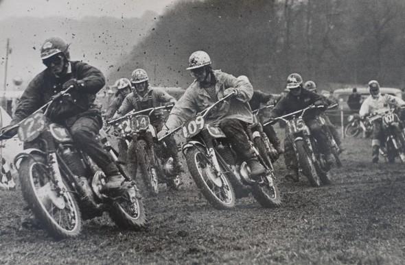 Start of Top Riders event at Seven Stars Scramble meeting, Brands Hatch, Jan 1965