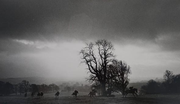 Gordon Richards String at early morning gallops, Greystoke, Cumbria, c. 1970s