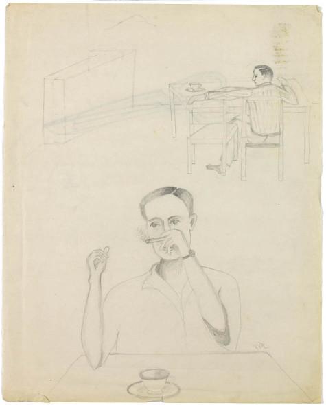Bhupen Khakhar, Man Smoking a Cigarette, 1979