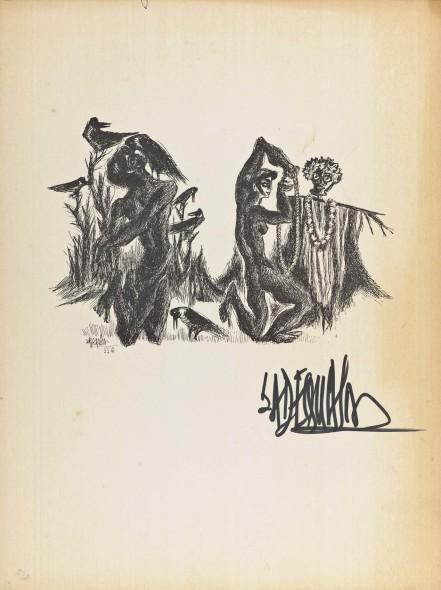 Syed Sadequain, The Webbed XIX, c.1966