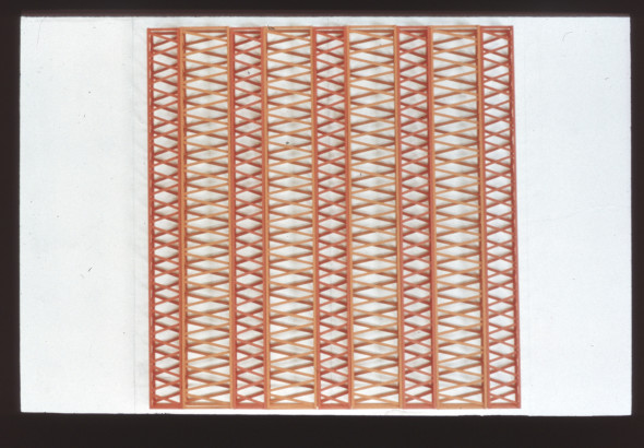 Rasheed Araeen, Untitled-4W+5R-70-x-66-x-4-in, 1971