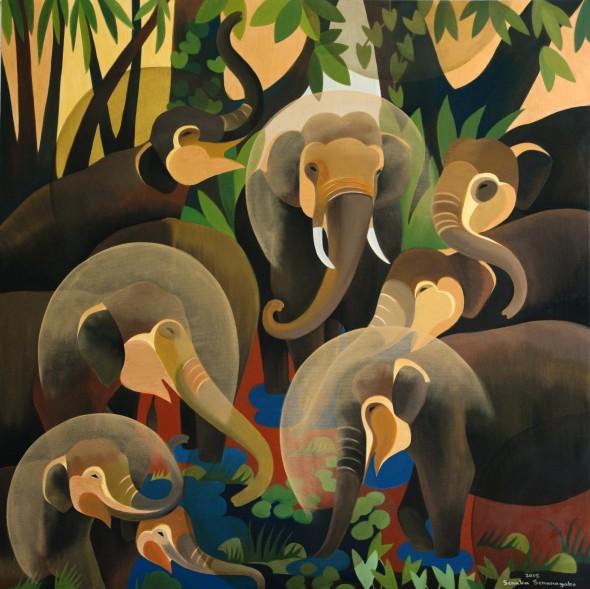 Senaka Senanayake, Elephants, 2015