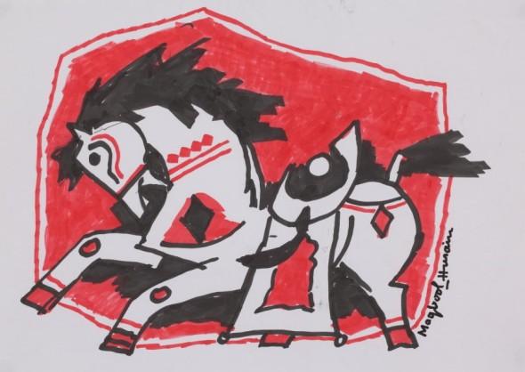 Maqbool Fida Husain, Untitled (Horse)